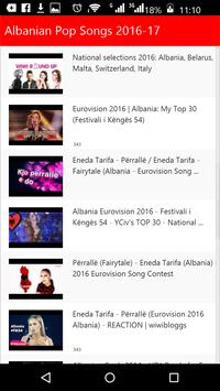 Albanian Pop Songs screenshot 1