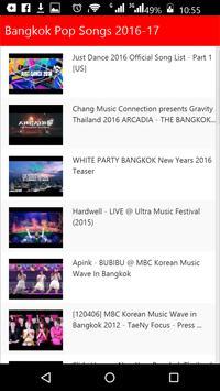 Bangkok Pop Songs apk screenshot