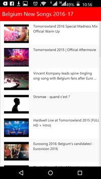 Belgium New Songs apk screenshot