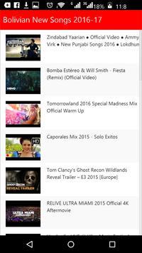 Bolivian New Songs screenshot 1