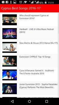 Cyprus Best Songs apk screenshot