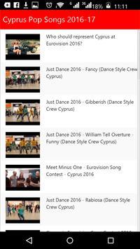 Cyprus Pop Songs apk screenshot