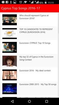 Cyprus Top Songs apk screenshot