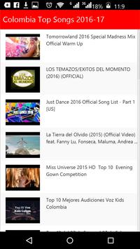 Colombia Top Songs apk screenshot