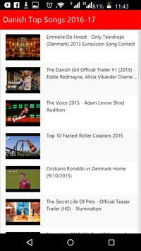 Danish  Top Songs apk screenshot