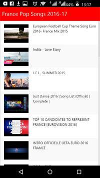 France Pop Songs 2016 screenshot 1