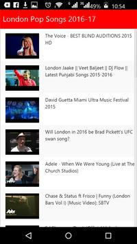 London  Pop Songs screenshot 4