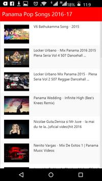 Panama Pop Songs apk screenshot