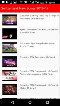 Switzerland New Songs apk screenshot