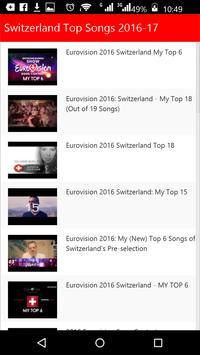 Switzerland Top Songs apk screenshot