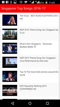 Singapore Top Songs apk screenshot