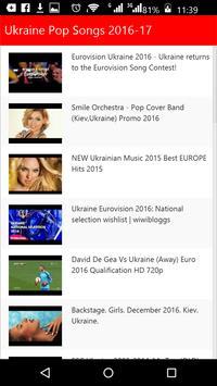 Ukraine Pop Songs poster