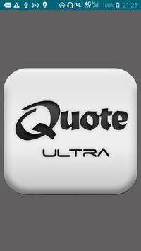 Quote Ultra poster