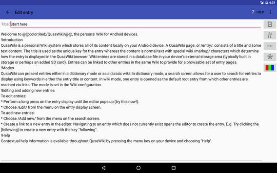 QusaWiki captura de pantalla 6