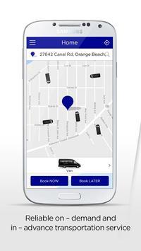 Coast.Cab passenger app poster