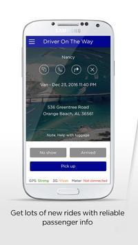 Coast.Cab driver app poster