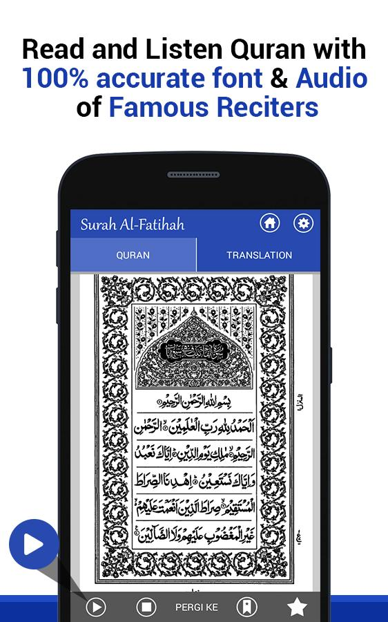 Al Quran with English Translation & Recitation for Android