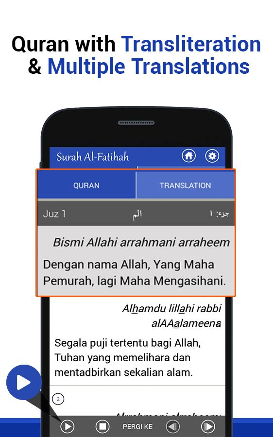 Al Quran with English Translation & Recitation for Android - APK