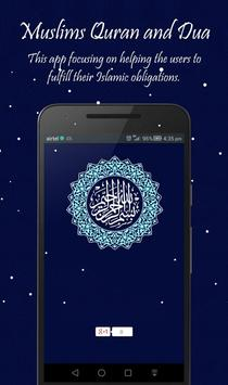 Muslims Qur'an and Dua poster