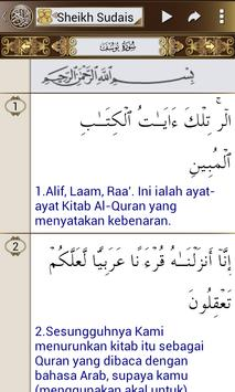 Al Quran Melayu Sudais Audio-Complete Koran Mp3 apk screenshot