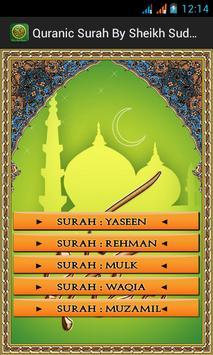 Quranic Surah by Sheikh Sudais apk screenshot