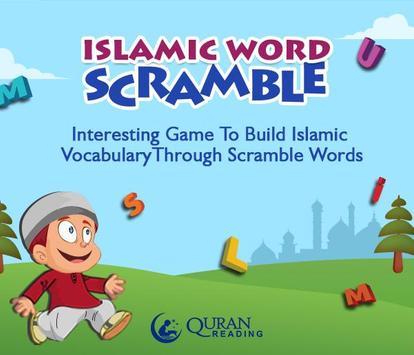 Islamic Word Scramble for Kids poster