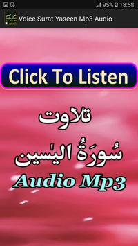 Voice Surat Yaseen Mp3 Audio poster