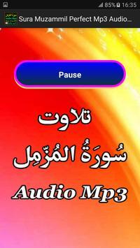 Sura Muzamil Perfect Mp3 Audio apk screenshot