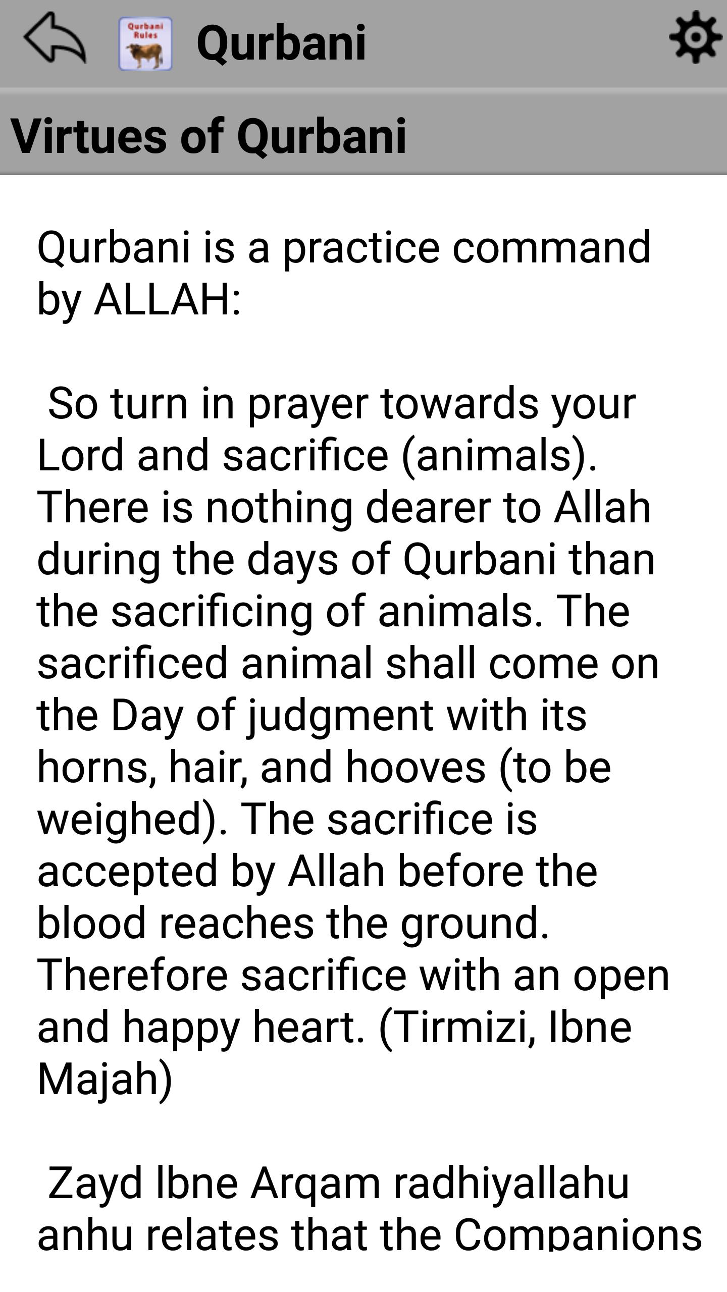 Qurbani Guide & Rules for Slaughtering on Hajj for Android