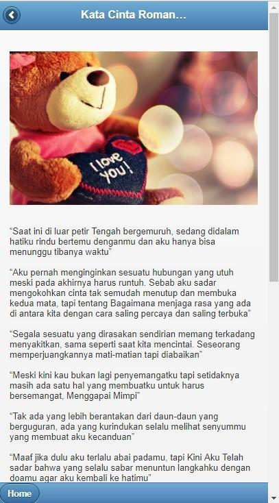 Kata Romantis Kumpulan Kata Cinta Romantis For Android