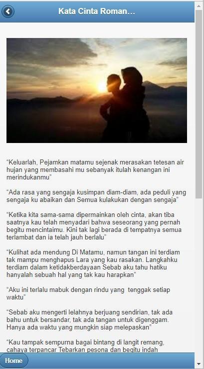 Kata Romantis Kumpulan Kata Cinta Romantis Für Android