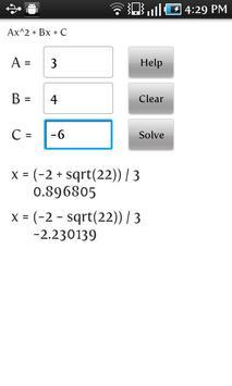 Exact Quadratic Solver Poster