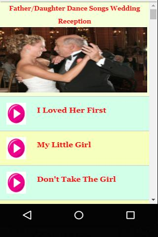 Father Daughter Dance Songs Wedding Reception For Android