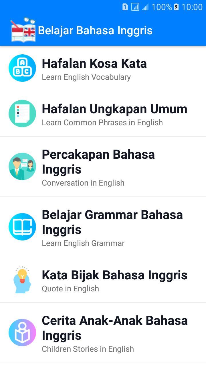 Belajar Bahasa Inggris For Android Apk Download