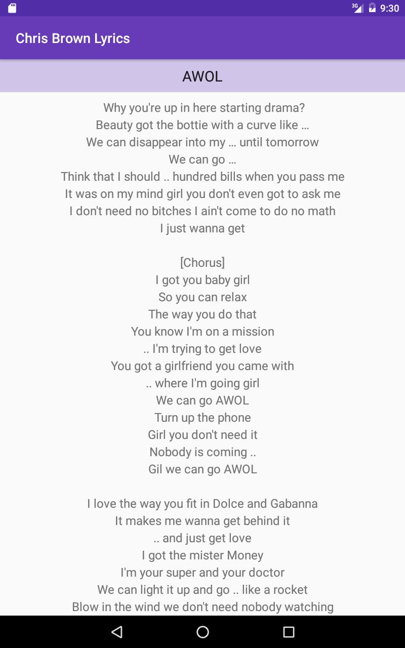 Chris Brown Lyrics - All Songs for Android - APK Download