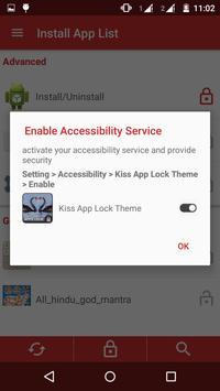 Kiss App Lock Theme apk screenshot