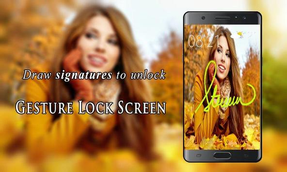 Signature Lock Screen screenshot 1