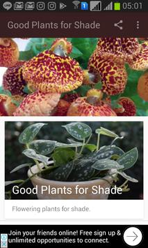 Good Plants for Shade poster