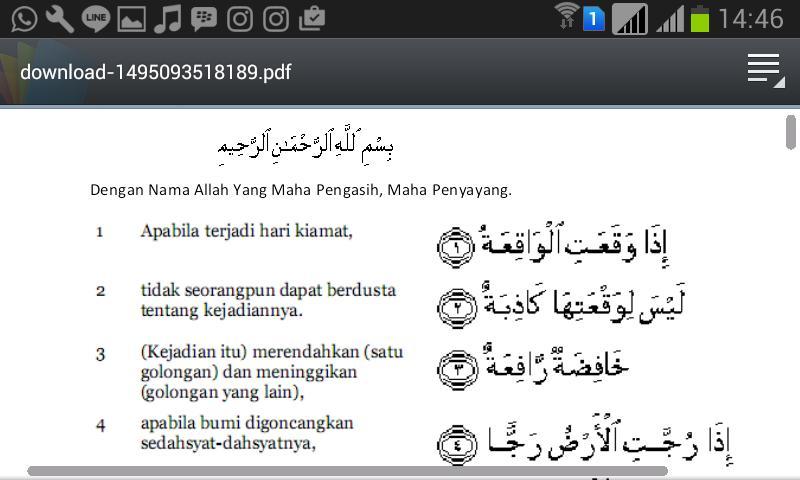 Surat Al Waqiah Dan Terjemahan For Android Apk Download