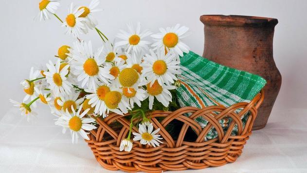 Flower Basket Wallpaper poster