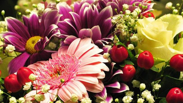 Flower Gift Wallpaper poster