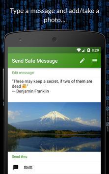 Send Safe Message poster