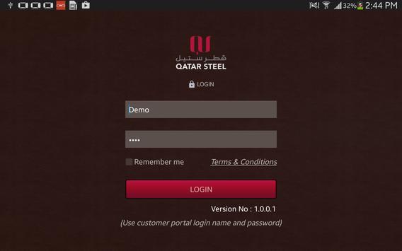 Qatar Steel Sales App apk screenshot