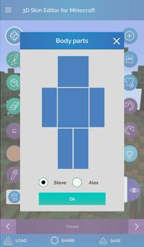 QB9's 3D Skin Editor for Minecraft screenshot 12