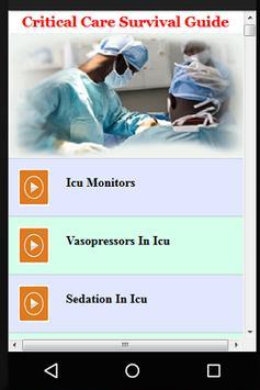 Critical Care Survival Guide poster