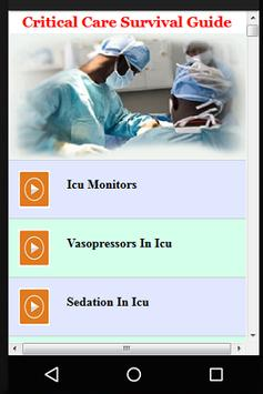 Critical Care Survival Guide apk screenshot