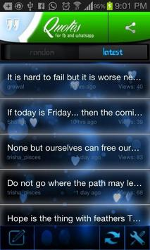 Status Quotes apk screenshot
