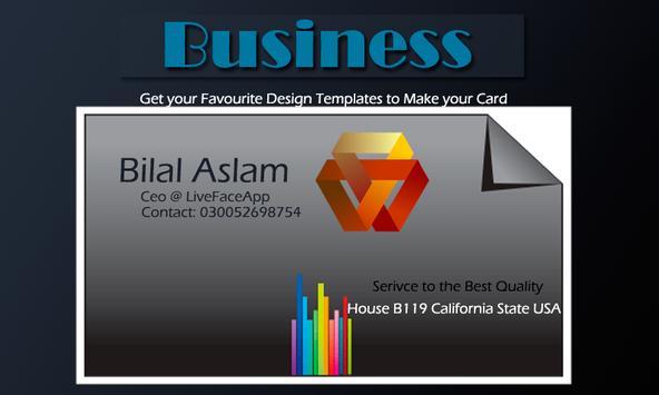 Business card maker apk baixar grtis arte e design aplicativo business card maker apk imagem de tela reheart Gallery