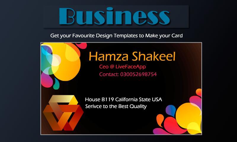 Business Card Maker 2018 poster