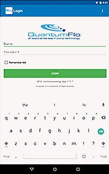 QuantumFlo Commissioning screenshot 2